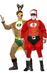 Supertomten och Superrudolf - Juldräkt för par