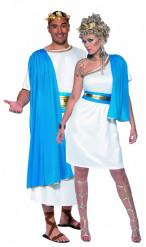 Romerskt Par Blå Detaljer - Pardräkt Vuxna