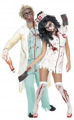 Zombie Sjukhuspersonal - Pardräkt