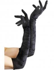 Svarta långa handskar för vuxna