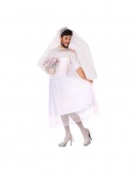 Skämtsam brudklänning man