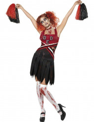 Zombie-cheerleaderdräkt för vuxna tillHalloween