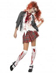 Skolflickan som blev en zombie - Halloweenkostym för vuxna
