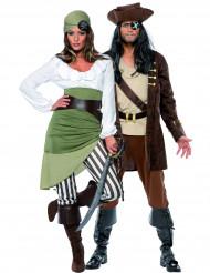 Herr och Fru Pirat - Pardräkt Vuxna