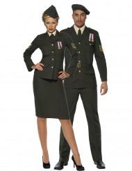 Klassiskt militärpar -Maskeraddräkt för par