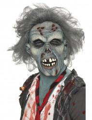 Zombiemask i grå ton för vuxna till Halloween
