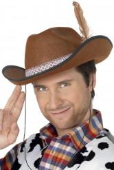 Brun cowboyhatt vuxen