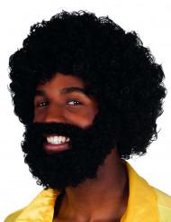 Mambo peruk med skägg och mustasch vuxen