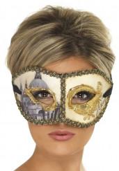 Venetiansk mask med gyllenedetaljer för vuxna
