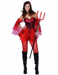 Halloweendräkt kvinnlig djävul