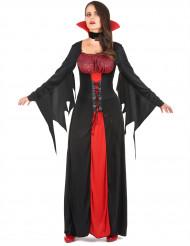 Smakfull vampyrdräkt till Halloween för damer