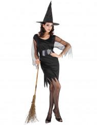 Svart magi - Häxdräkt för vuxna till Halloween