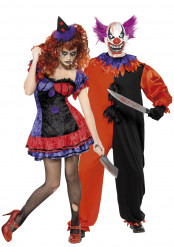 Mr. & Mrs. Horror Clown - Halloweenkostym för par