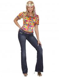 Hippie T-shirt för vuxna till maskeraden