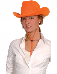 Cowboyhatt orange vuxen