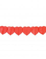 2 pappersgirlanger med röda hjärtan