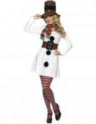 Snögubbsklänning för vuxna - Juldräkt