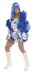 Maskeraddräkt Disco Drag Queen vuxen blå