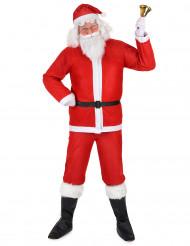 Jultomtedräkt med skägg - Juldräkt för vuxna