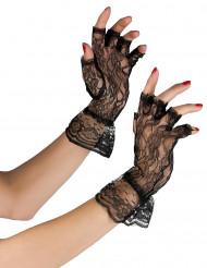 Svarta spetshandskar för vuxna