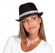 Hatt med glänsande strass