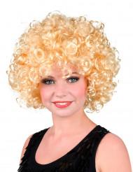Peruk med lockigt blont hår