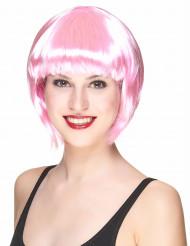 Chewing gum - Kort rosa peruk för vuxna