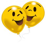 10 smiley ballonger