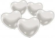 10 vita hjärtballonger