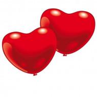 10 röda hjärtballonger