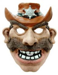 Sheriff Mustasch - Maskeradmask för vuxna