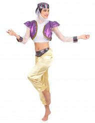 Kostym som orientalisk dansös dam
