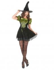 Fyndiga Fanny - Häxklänning för vuxna till Halloween