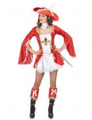 Röd musketör - Maskeraddräkt för vuxna