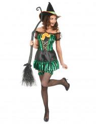 Flirtig häxa - Halloweenkostym för vuxna