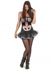 Sexig skelettdräkt Halloween damer