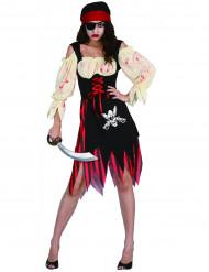 Zombiepiratdräkt Halloween damer