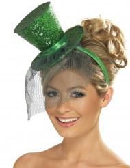 Minihatt som är grön och hög