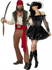 Tjusigt piratpar - Pardräkt för vuxna till maskeraden