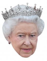 Kartongmask drottning Elisabeth