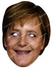 Kartongmask Angela Merkel