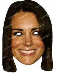 Kartongmask Kate Middleton