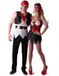 Piratpar - Pardräkt i vuxenmodell