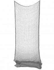 Spökdekoration grått gardin