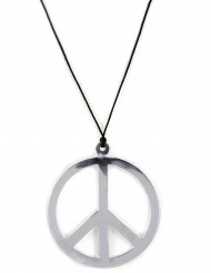 Enormt silvrigt Hippie halsband