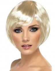 Kabaret - Peruk med kort blont hår för vuxna