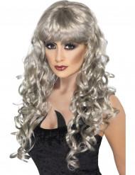 Peruk lockig silver sjönjungfru