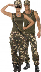 Tuff militärduo - Maskeraddräkt för par