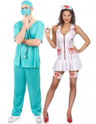 Doktor och Sjuksköterska - Pardräkt Vuxna