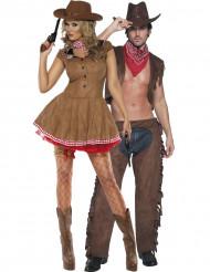 Cowgirl och cowboy pardräkt